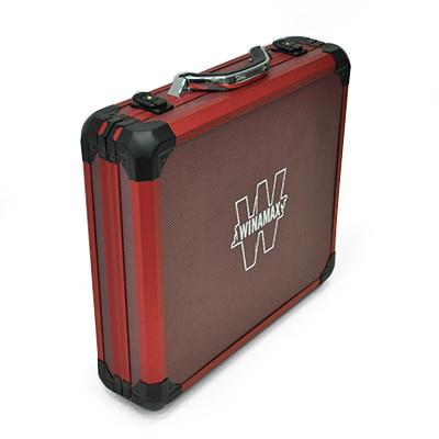 Nueva maleta de poker de aluminio rojo 500 fichas