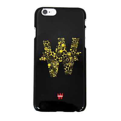 Carcasa dura negra y amarilla para Iphone 6